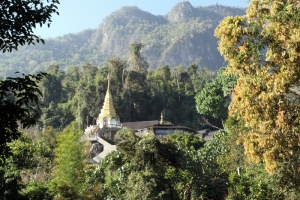 Bhuddist Temple in the mountains