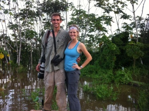 Us standing at the edge of our most productive river island!