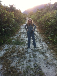 Me standing on the trail in Agua Verdes. I spent a fair share of time watching the Leaf Cutter ants travel on by!