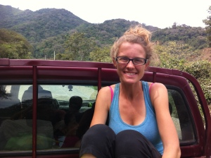 En route to Sozoranga. We did a lot of riding in the back of pick up trucks along windy dirt roads