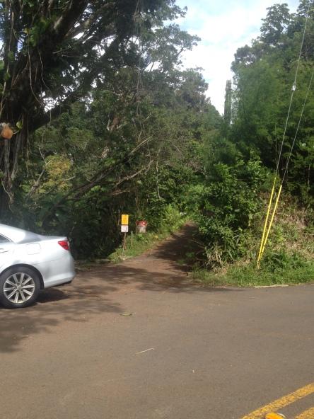 The trailhead for Kalawahine Trail