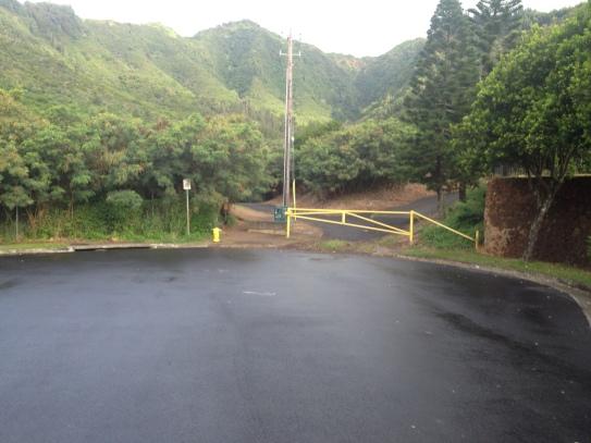 Asphalt Road at end of cul-de-sac