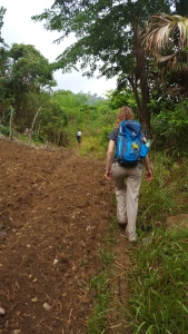 Walking along one of the trails to get to the last remaining habitat on Cebu.