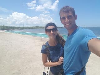 After lunch selfie along the beach