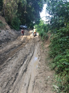 The road from Minca up to San Lorenzo ridge was in terrible shape!
