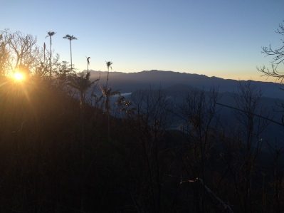 Sunrise at the top of San Lorenzo ridge