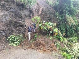 Crossing the landslide