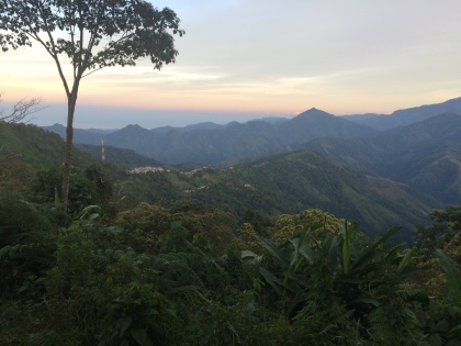 A view of San Pedro Town along the start of the hike