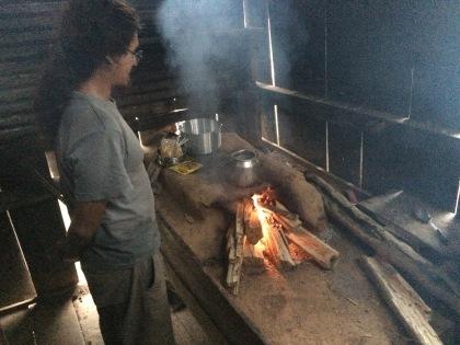 Sebastian cooking some dinner
