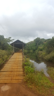 Our first birding site: The bridge outside of Urania
