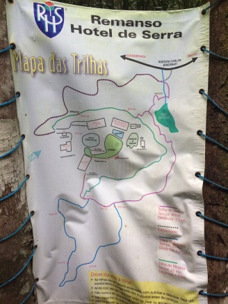 A map of the trails