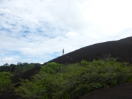 Ross climbing to the top of the cerro