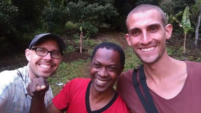 Josh and I with our local guide Patrice