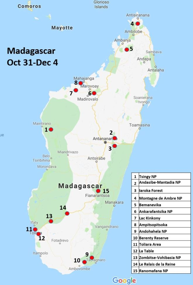 Madagascar Itinerary