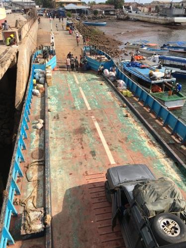 The ferry from Mahajanga to Mitsinjo